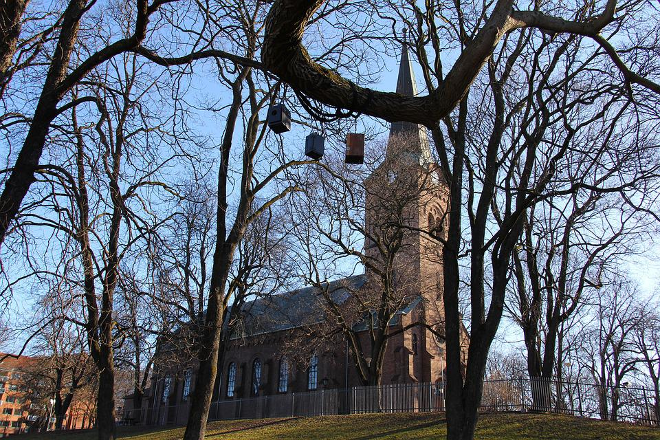 Grünerløkka, Scenery, Winter, Cold, Church