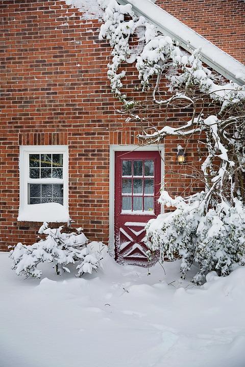 Winter, Snow, Window, House, Cold