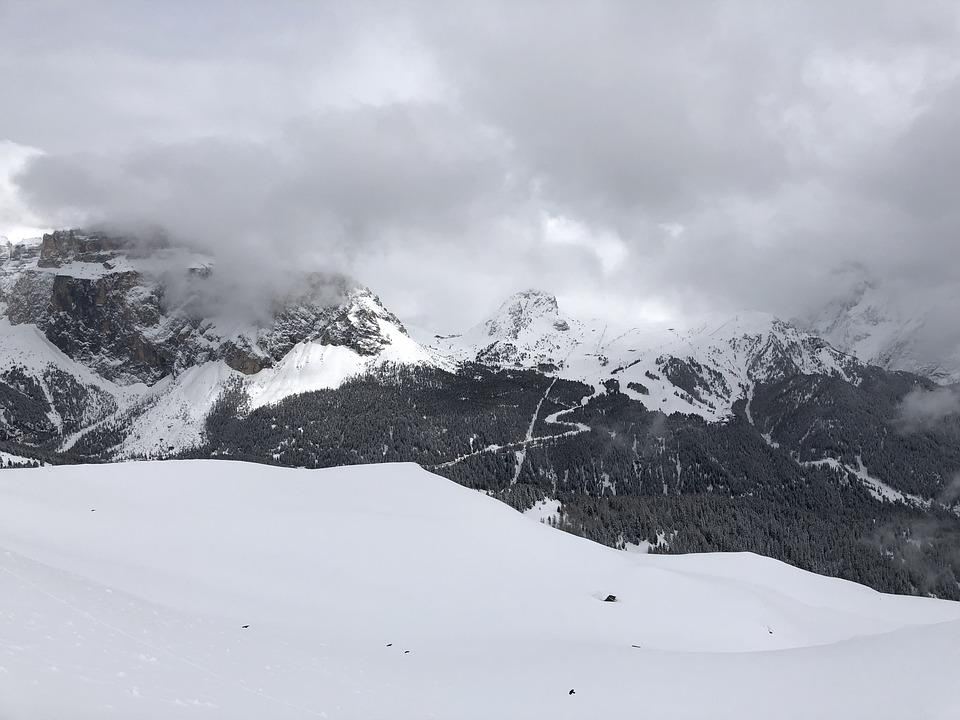 Snow, Mountain, Winter, Panoramic, Cold, Italy