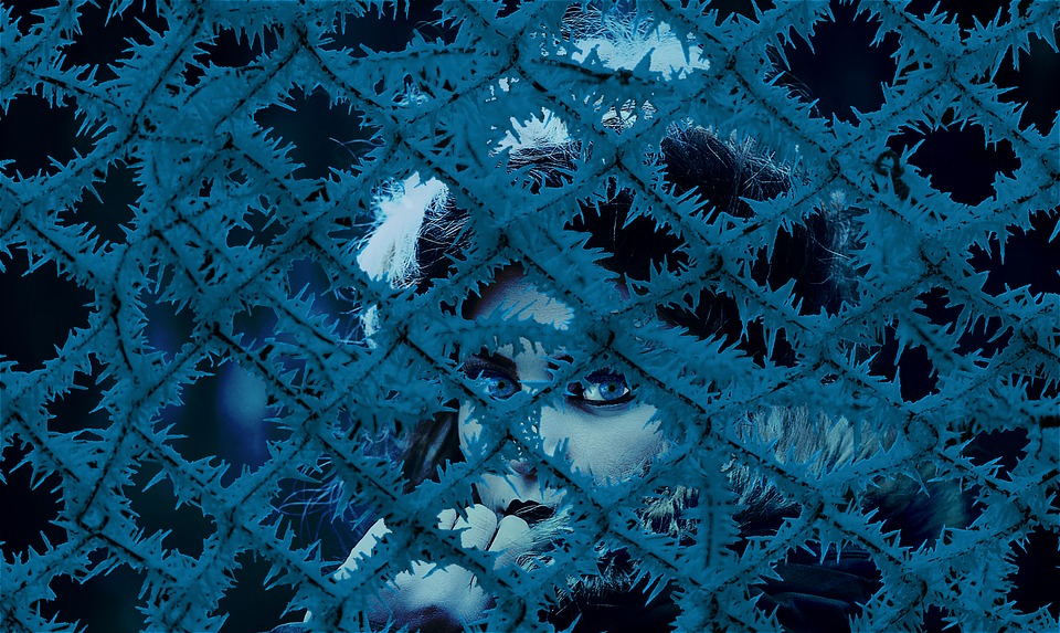 Cold, Ice, Frost, Icy, Blue, Freeze, Portrait, Woman