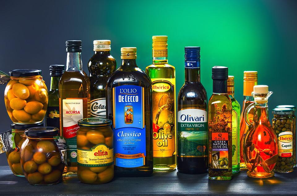 Bottle, Oil, Olives, Olive, Cold, Spin, Large, Plan