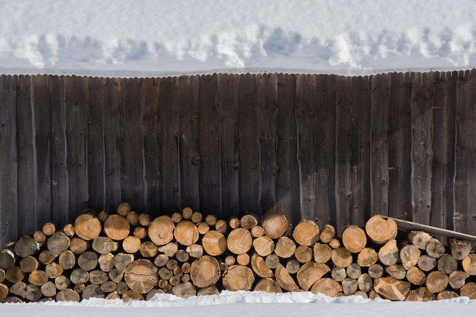 Snow, Wood, Stack, Winter, Nature, White, Cold, Snowy