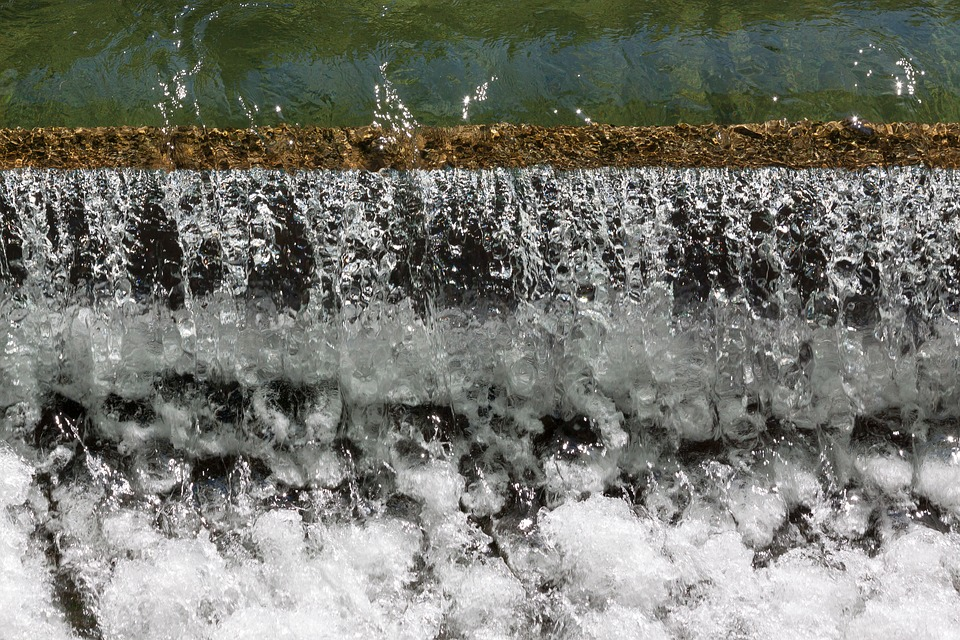 Water, Barrage, Clear, Green, White, Foam, Cold, River