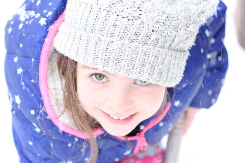 Winter, Cold, Lid, Scarf, Cute, Beautiful, Girl, Child