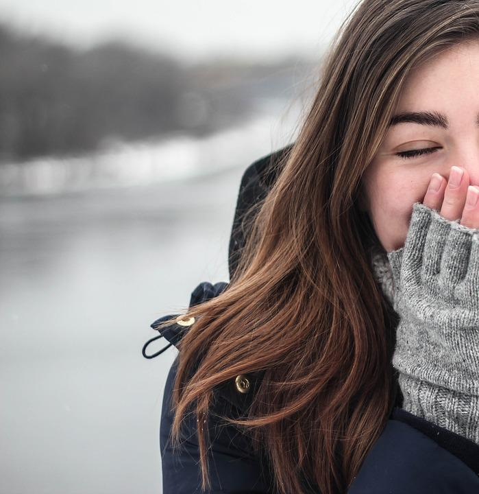 Cold, Sneeze, Sneezing, Happy, Fashion, Woman, Girl