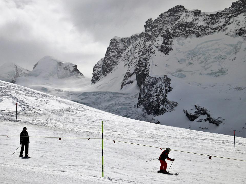Ski, Zermatt, Skiers, Snow, Winter, Mountain, Ice, Cold