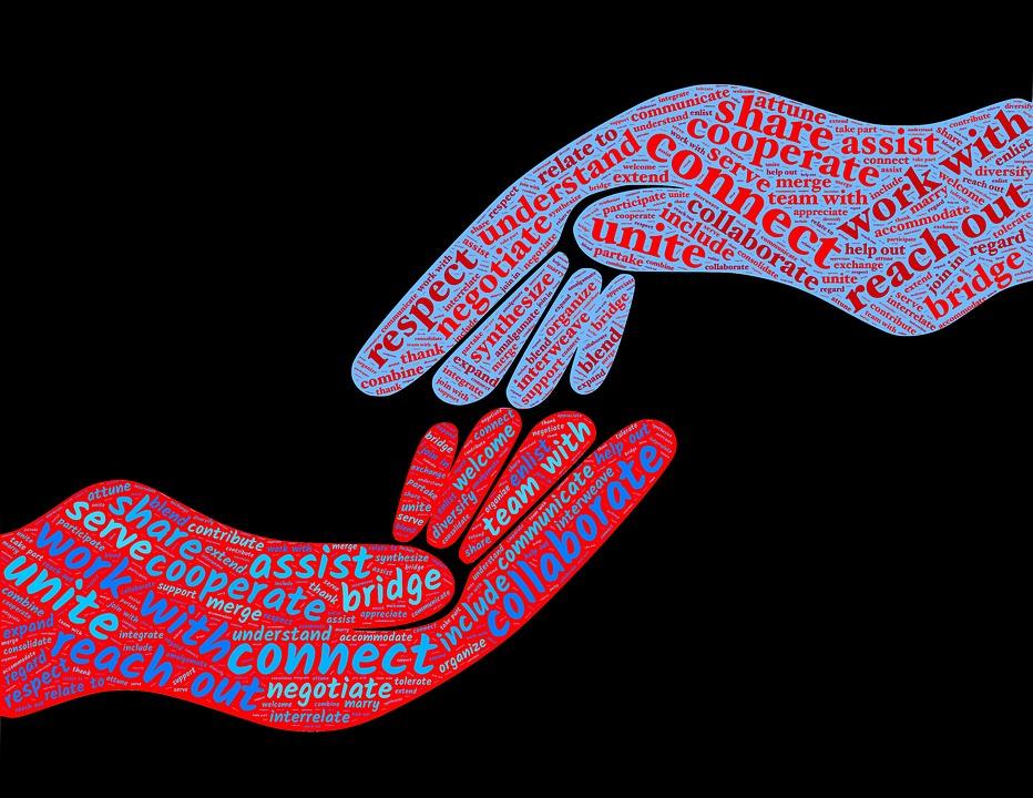 Cooperate, Collaborate, Teamwork, Partnership