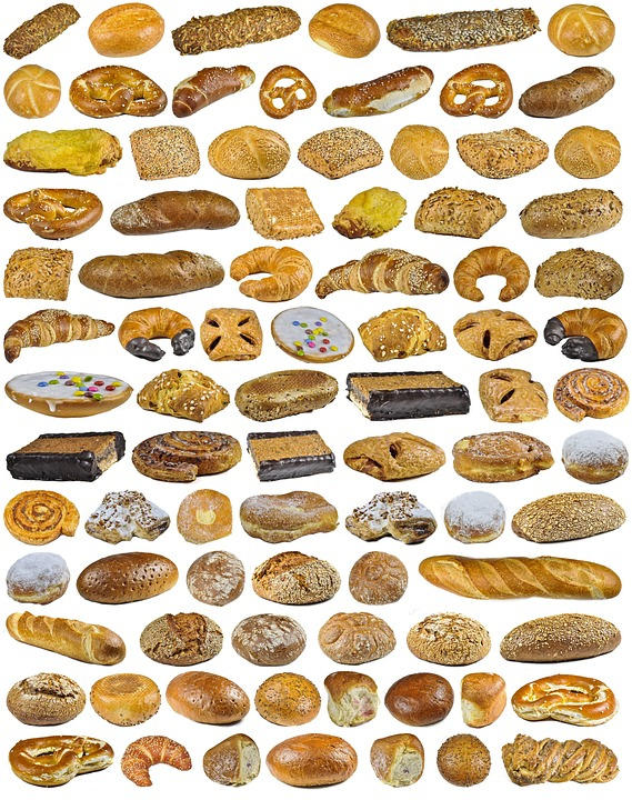 Find 3 Pretzel Out, Background, Collection, Food, Bread