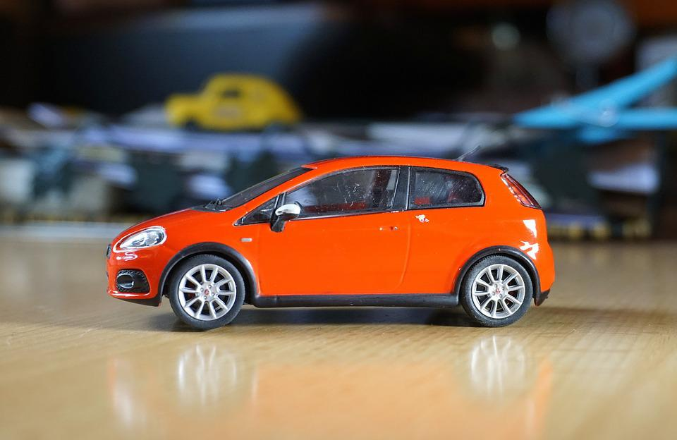 Miniature, Fiat, Abarth, Red, Collection, Italian