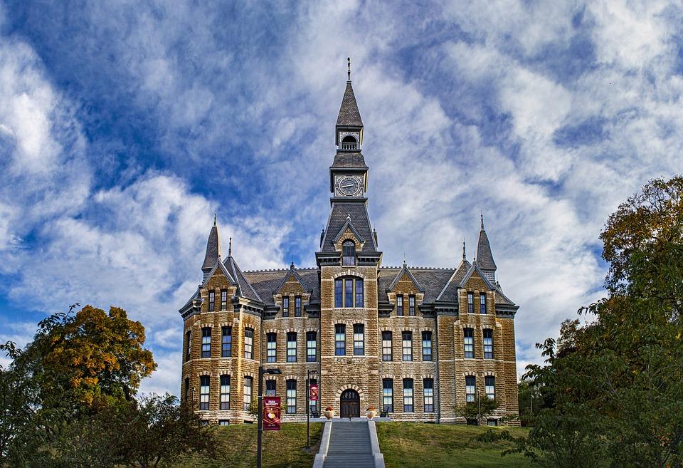 School, College, University, Buildings, Halls