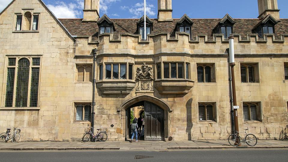 Cambridge, College, University, Architecture, Building