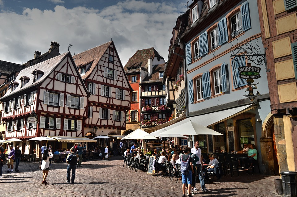 Colmar, Timber-framed, Square, Half-timbered House
