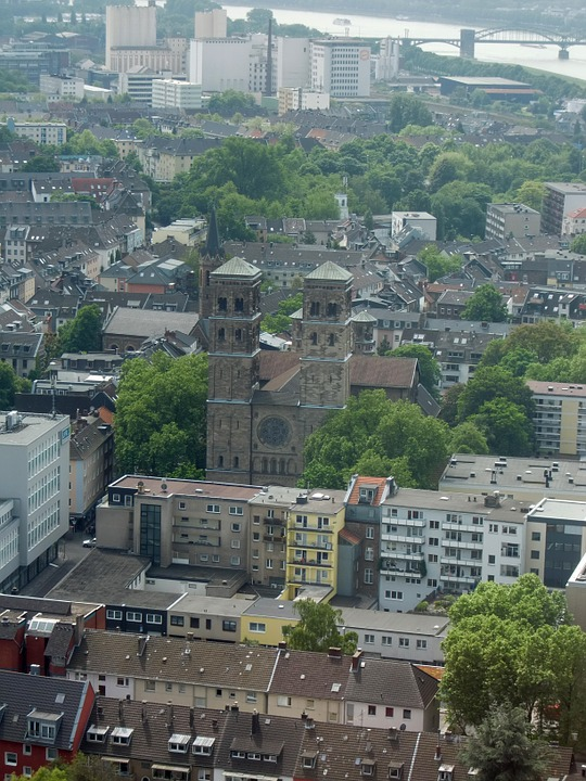 Cologne, Aerial View, City, Roofs, Roof Landscape