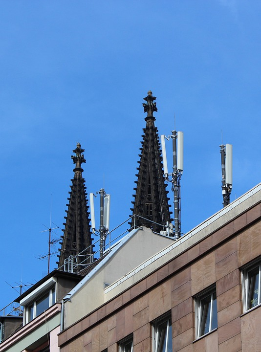 Cologne, Dom, Communication, Antenna, Tower, Mobile