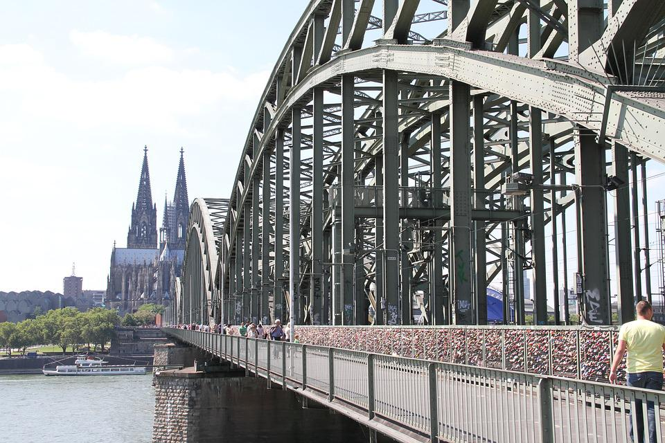 Cologne, Bridge, Cathedral, Rhine