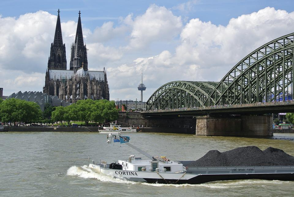 Cologne, Rhine, Hohenzollern Bridge, Dom