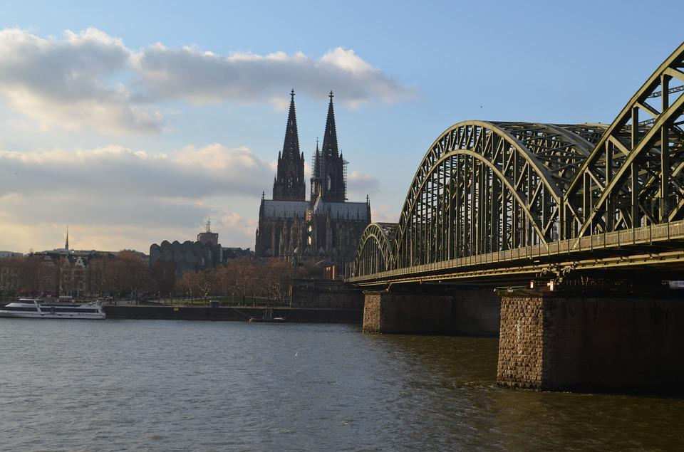 Cologne Panorama, Hohenzollern Bridge