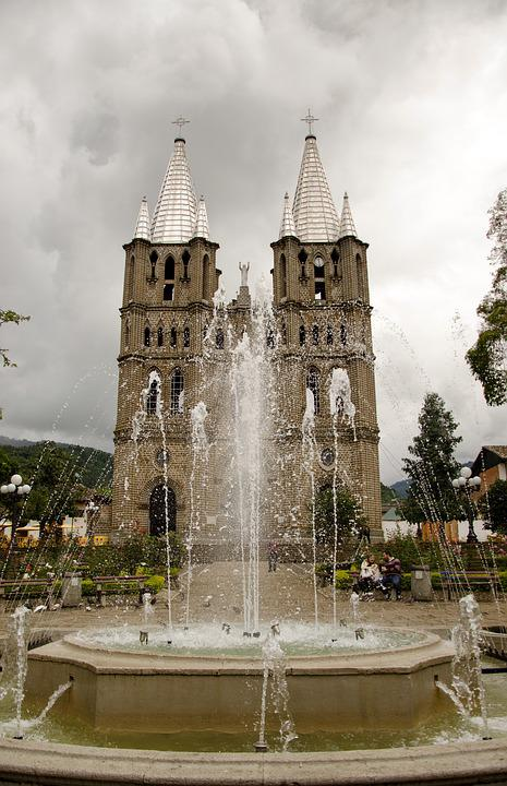 Colombia, Jardin, Coffee Zone, Church, Architecture