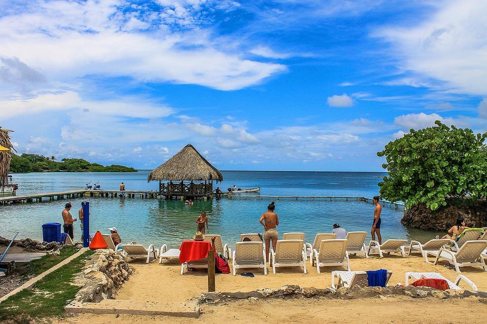 Lagune, Beach, Colombia, Sun Island