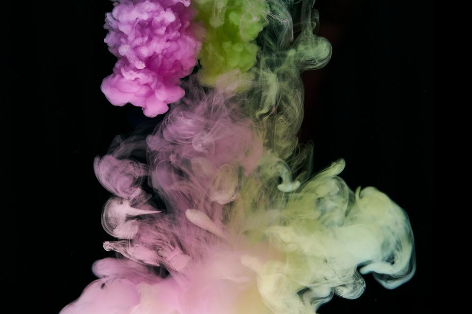 Ink, Water, Pink, Green, Liquid, Color, Paint, Abstract