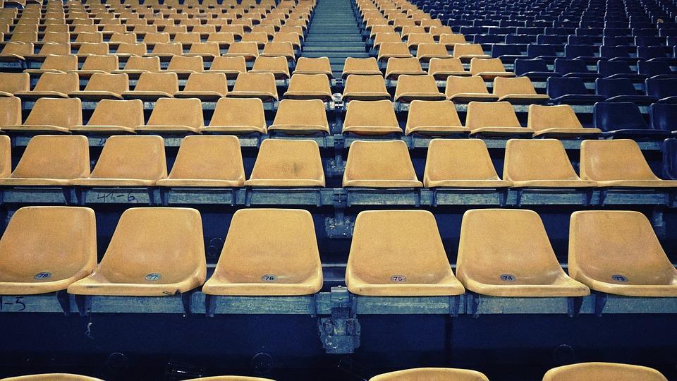Auditorium, Bench, Bleachers, Chair, Color, Empty, Row