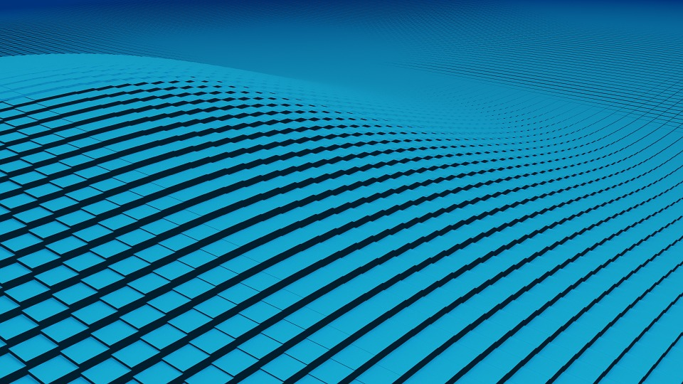 Grid, Abstract, Blue, Modern, Technology, Color