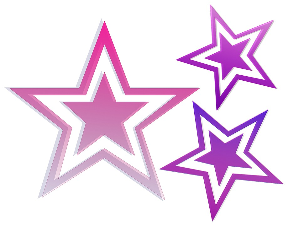 Star, Pink, Purple, Color, Bright