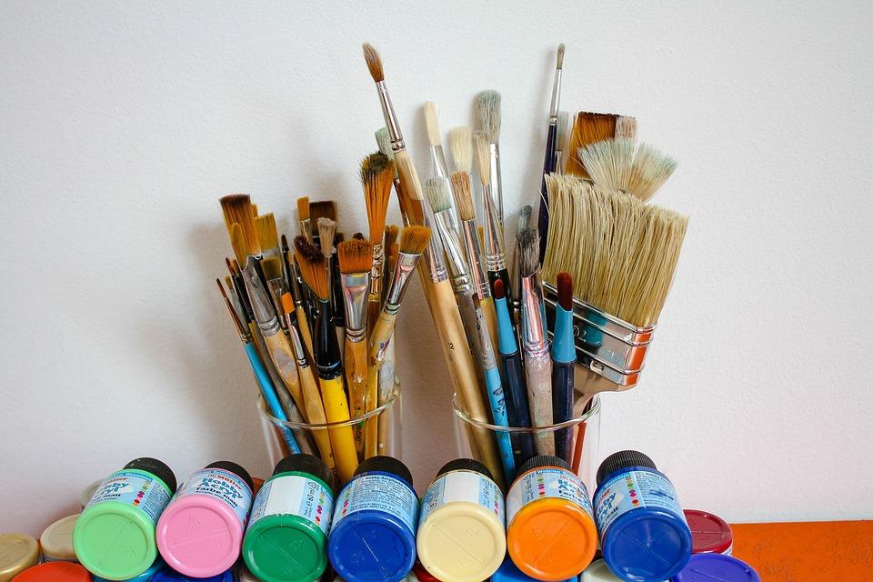 Brush, Painter Brush, Cans Of Paint, Color, Paint