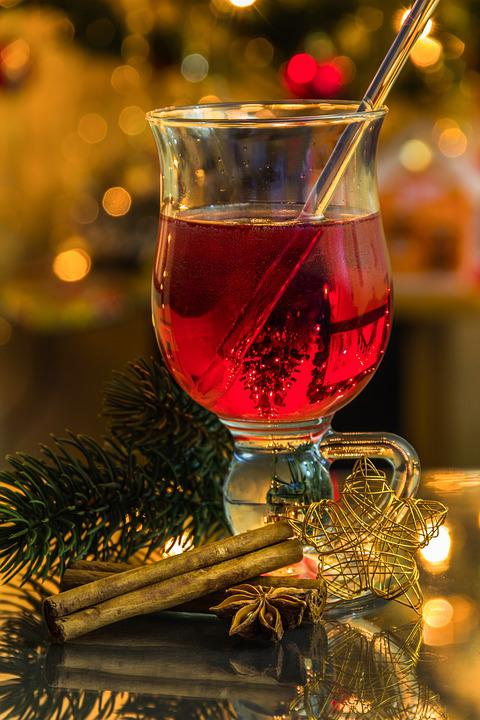 Christmas, Cinnamon Stick, Hot Drink, Lights, Color