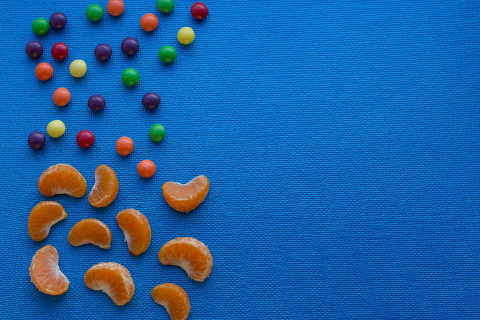 Background, Blue, Candy, Cartoon, Color, Colorful