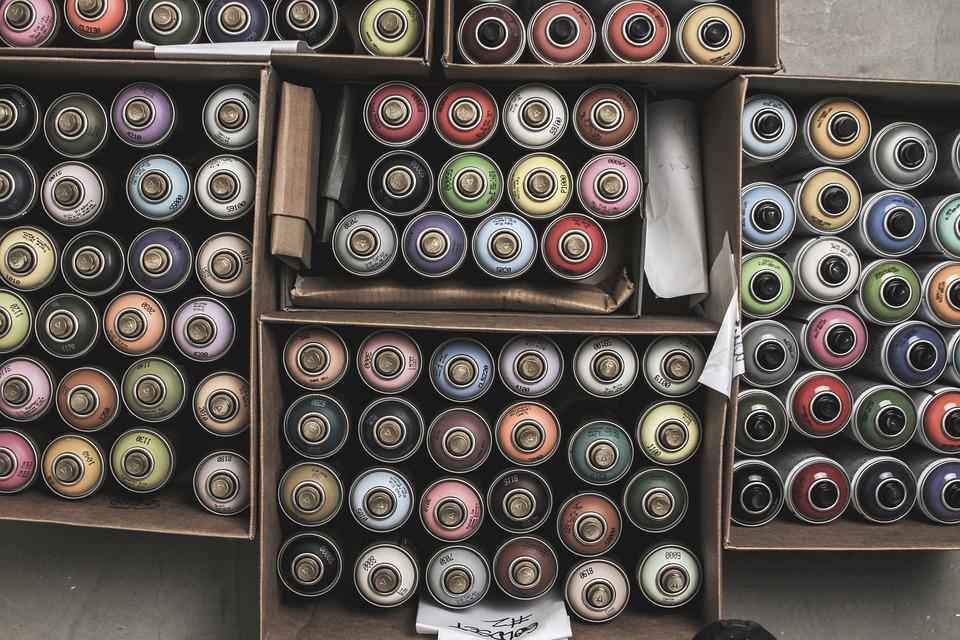 Graffiti, Cans, Spray Paint, Montana, Colors, Color