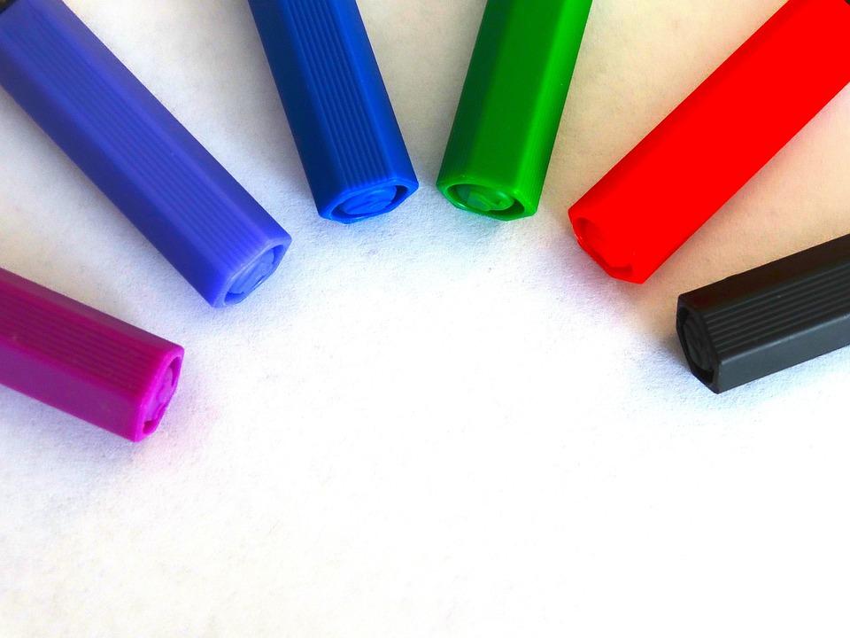 Felt Tip Pens, Colour Pencils, Color, Paint, Draw