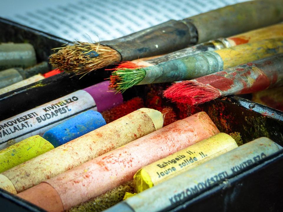 free photo color drawing brush chalk pastel art colors max pixel