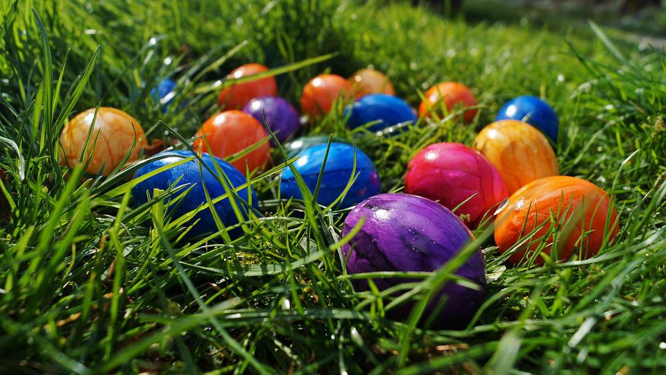 Easter, Eggs, Color Eggs, In The Grass