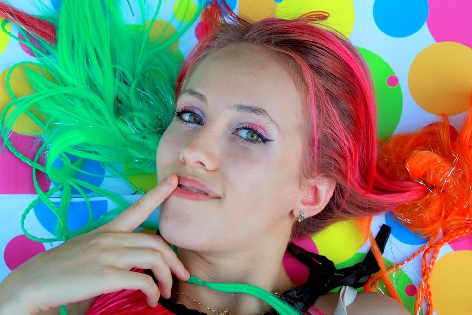 Girl, Color, Smile