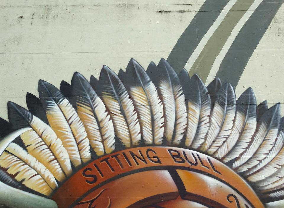 Graffiti, Indians, Feather, Color, Colorful, Decorative