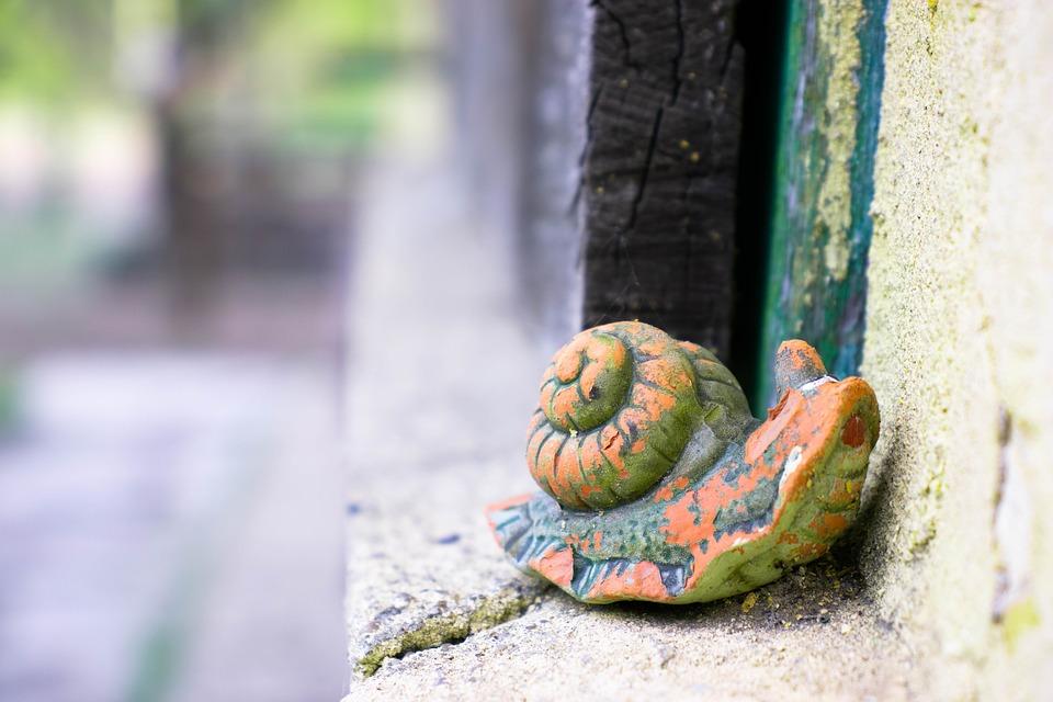 Snail, Nature, Old, Keramie, Color, Animal, Garden