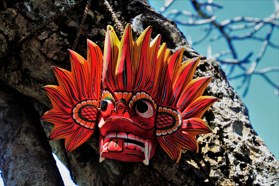 Mask, Wooden, Nature, Color, No One, At The Court Of