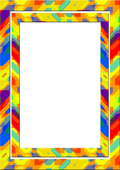 Frame, Picture Frame, Outline, Colorful, Color