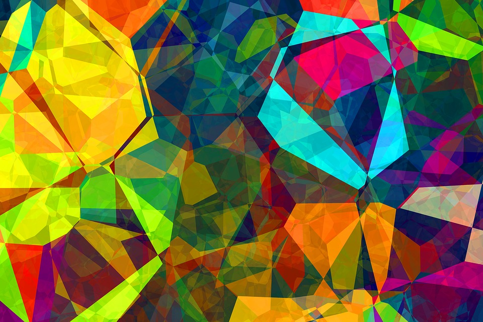Free photo Color Polygon Pattern Abstract Background