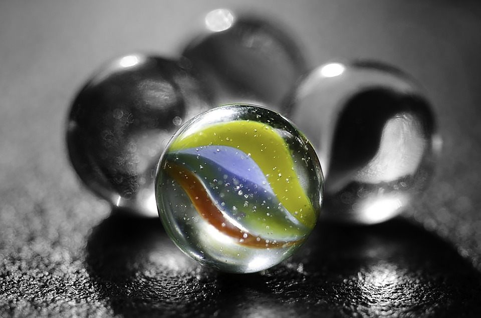 Marbles, Black And White, Color Pop