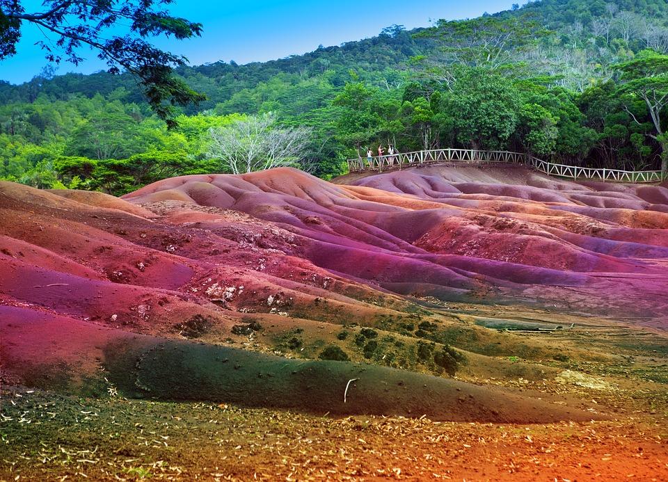 Color, Sands, Chamarel, Mauritius