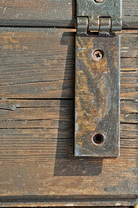 Wood, Iron, Chain, Texture, Color, Shadows, Rust, Door
