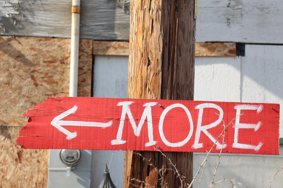 More, Sign, Vintage, Salvage Yard, Symbol, Arrow, Color