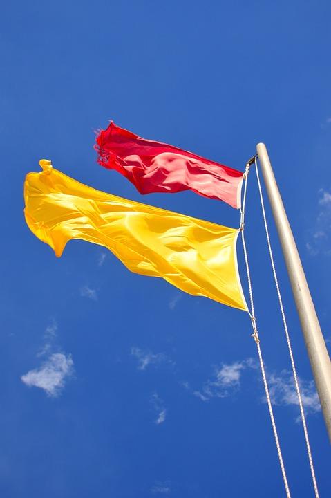 Flag, Storm Flag, Red Flag, Wind, Color, Storm, Sky