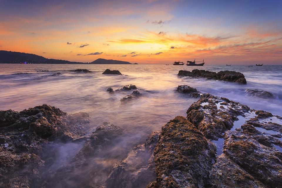 Landscape, Seascape, Sunset, Color, Sea, Summer, Ocean