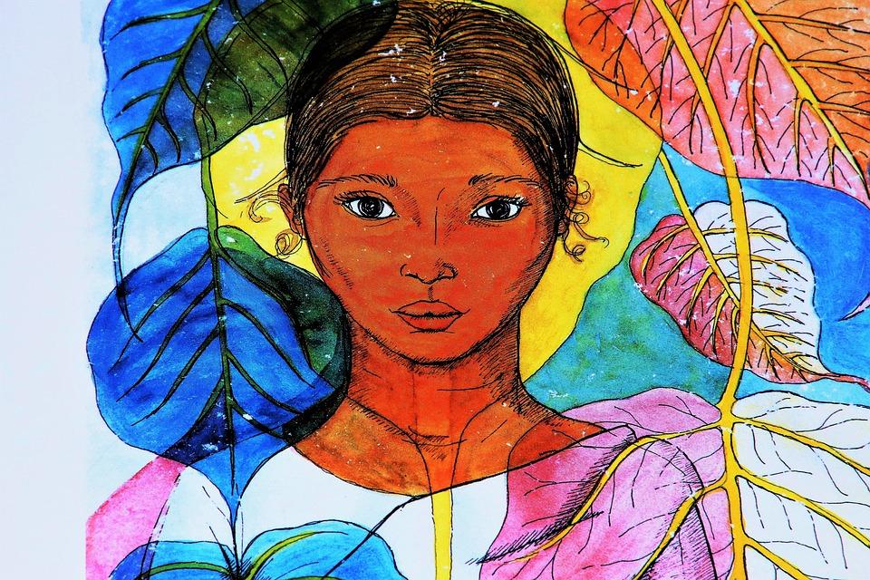 The Art Of, Woman, Sri Lanka, Color, Painting