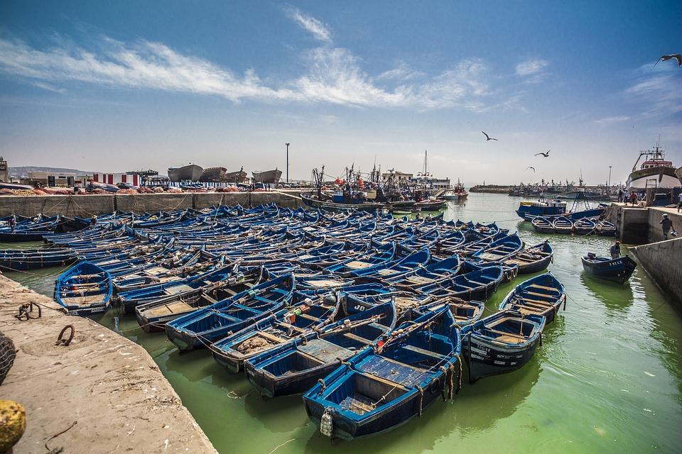 Morocco, Morroco, Boat, Blue, City, Color, Harbor, Town