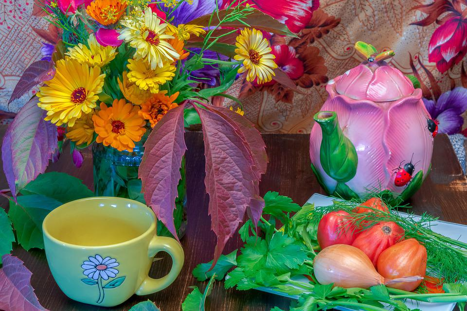 Flowers, Vegetables, Color, Autumn, Colorful, Vegetable
