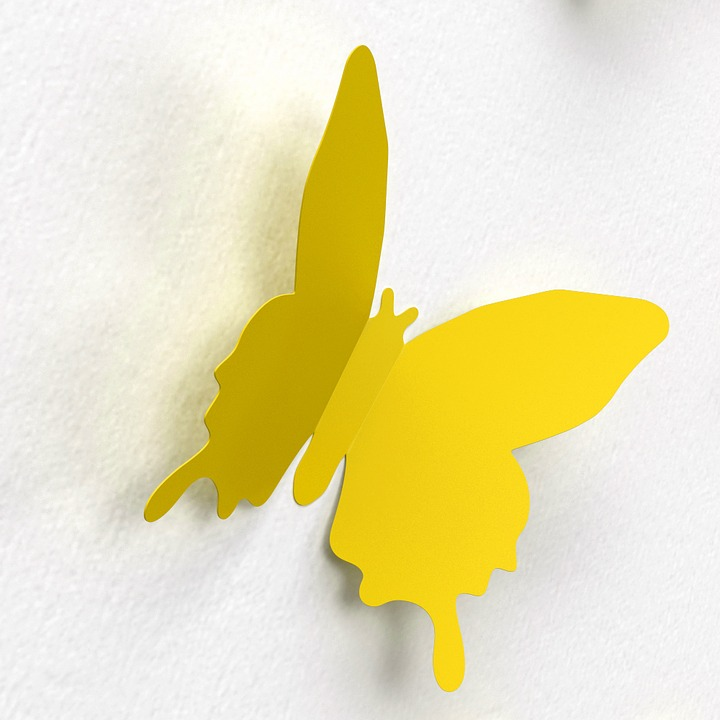 Free photo Color Wall Decoration Butterfly Paper Decoration - Max Pixel